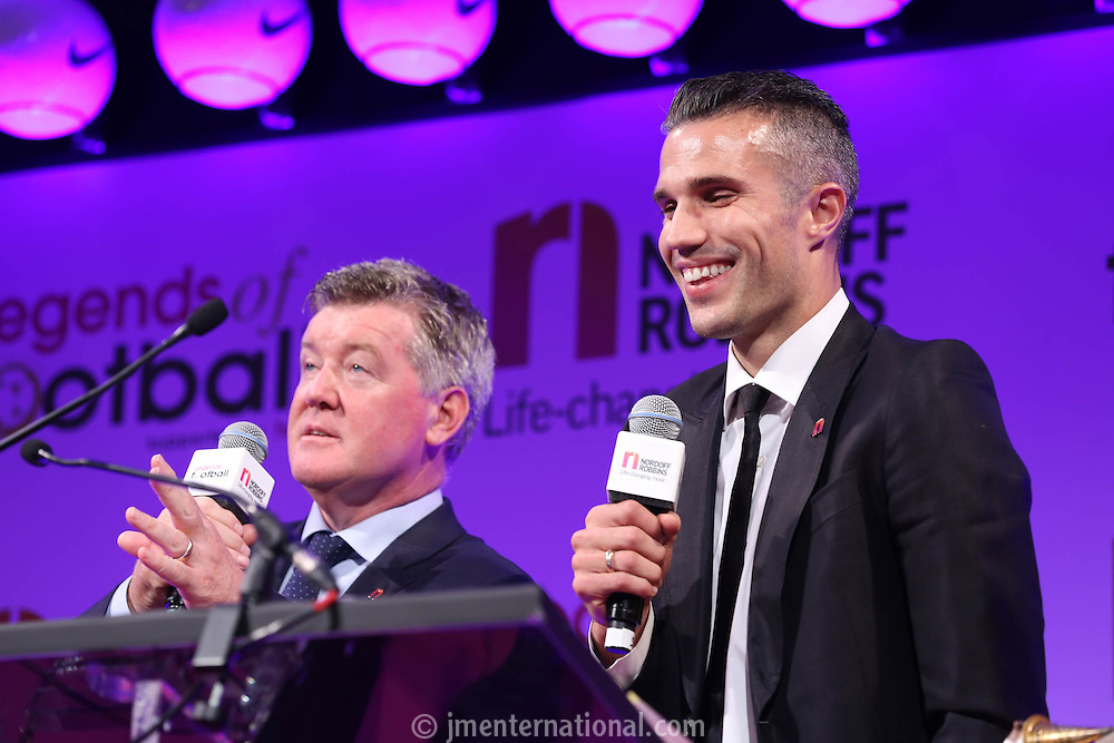 Legends of Football supported by HMV. <br /> In aid of Nordoff Robbins.<br /> Wednesday 5th October 2016.<br /> Grosvenor House, Park Lane.<br /> Photo Credit: John Marshall - JM Enternational