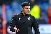 Luton Town defender James Justin (2) warms up during the EFL Sky Bet League 1 match between Luton Town and Burton Albion at Kenilworth Road, Luton, England on 22 December 2018.