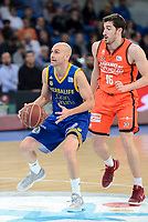Valencia Basket's Guillem Vives and Herbalife Gran Canaria's Albert Oliver during Quarter Finals match of 2017 King's Cup at Fernando Buesa Arena in Vitoria, Spain. February 17, 2017. (ALTERPHOTOS/BorjaB.Hojas)