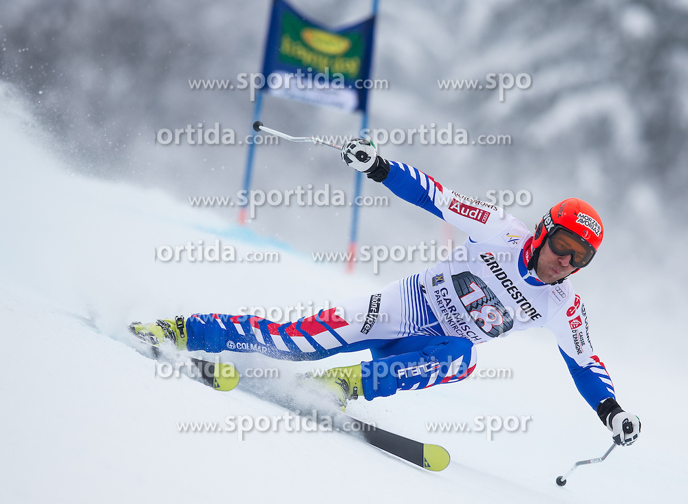 24.02.2013, Kandahar, Garmisch Partenkirchen, AUT, FIS Weltcup Ski Alpin, Riesenslalom, Herren, 2. Durchgang, im Bild Cyprien Richard (FRA) // Cyprien Richard of France in action during 2nd run of the mens Giant Slalom of the FIS Ski Alpine World Cup at the Kandahar course, Garmisch Partenkirchen, Germany on 2013/02/24. EXPA Pictures © 2013, PhotoCredit: EXPA/ Johann Groder
