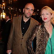 NLD/Amsterdam/20120313 - Inloop Boekenbal 2012, Leon Verdonschot en partner Debby Gerritsen