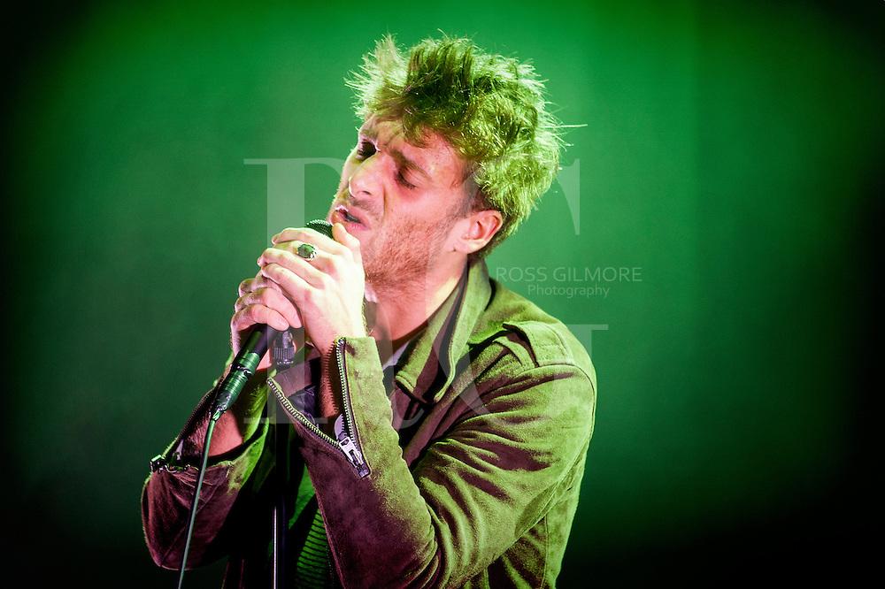 Paulo Nutini performs at the bandstand in Edinburgh's Princess Street Gardens as part of Edinburgh's Hogmanay celebrations on Dec 31st, 2016 in Edinburgh, Scotland.