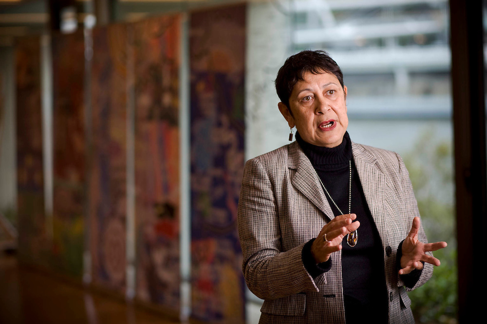Repatriation of aboriginal remains from Europe and the U.S. to back to Australia story. Professor Aileen Moreton Robinson is a Geonpul woman from Minjerribah (Stradbroke Island)
