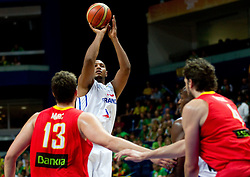 Boris Diaw of France during basketball game between National basketball teams of France and Spain at FIBA Europe Eurobasket Lithuania 2011, on September 11, 2011, in Siemens Arena,  Vilnius, Lithuania.  (Photo by Vid Ponikvar / Sportida)