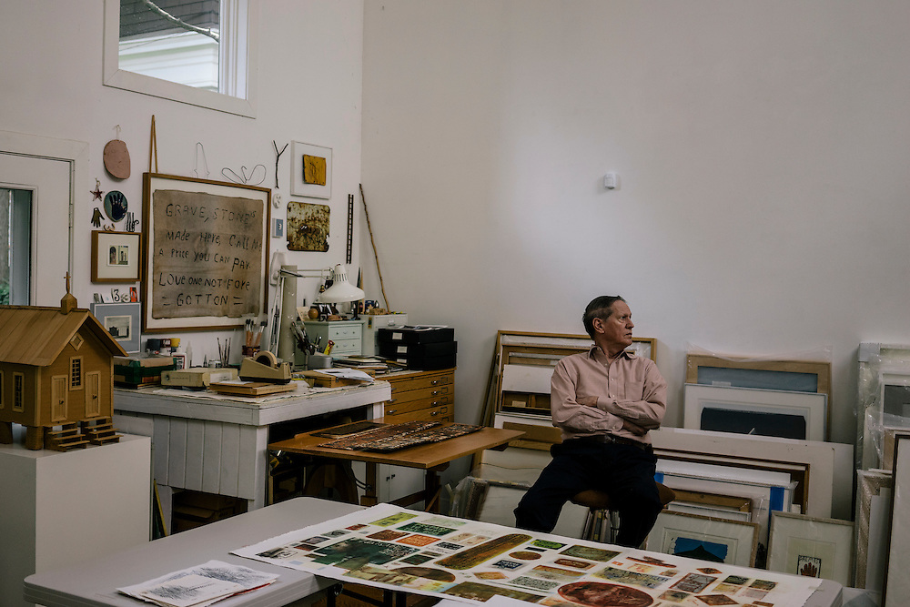 WASHINGTON, DC - MAY 12 William Christenberry at his home studio in NW Washington DC on May 20, 2015. (Photo by Greg Kahn/GRAIN for The Washington Post)