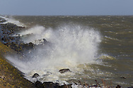 Storm op het IJsselmeer.