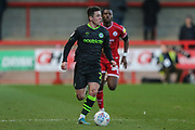 Forest Green Rovers Jack Aitchison(29), on loan from Celtic runs forward during the EFL Sky Bet League 2 match between Crawley Town and Forest Green Rovers at The People's Pension Stadium, Crawley, England on 4 January 2020.