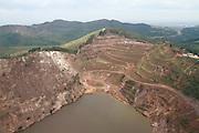 Belo Horizonte_MG, Brasil.<br /> <br /> Mineracao na Serra do Curral em Belo Horizonte, Minas Gerais.. <br /> <br /> Mining at Serra do Curral in Belo Horizonte Minas Gerais.<br /> <br /> Foto: HUGO CORDEIRO / NITRO