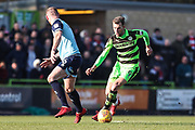 Forest Green Rovers Christian Doidge(9) runs forward during the EFL Sky Bet League 2 match between Forest Green Rovers and Crawley Town at the New Lawn, Forest Green, United Kingdom on 24 February 2018. Picture by Shane Healey.