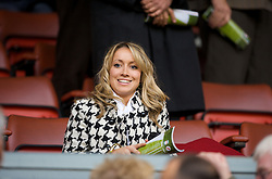 LIVERPOOL, ENGLAND - Saturday, March 15, 2008: A blonde woman sitting in the front row of the Director's Box at Anfield. xxxx (Photo by David Rawcliffe/Propaganda)