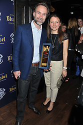 Chef MARCUS WAREING and his wife JANE at the launch of the Johnnie Walker Blue Label Club held at The Scotch, Mason's Yard, London on 1st May 2012.