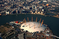 The Millennium Dome, colloquially referred to simply as The Dome, is the original name of a large dome-shaped building, originally used to house the Millennium Experience, a major exhibition celebrating the beginning of the third millennium. Located on the Greenwich Peninsula in South East London, England, the exhibition was open to the public from 1 January to 31 December 2000. The project and exhibition was the subject of considerable political controversy as it failed to attract the number of visitors anticipated, with recurring financial problems. All of the original exhibition and associated complex has since been demolished. The dome still exists, and it is now a key exterior feature of The O2. The Prime Meridian passes the western edge of the Dome and the nearest London Underground station is North Greenwich on the Jubilee Line.