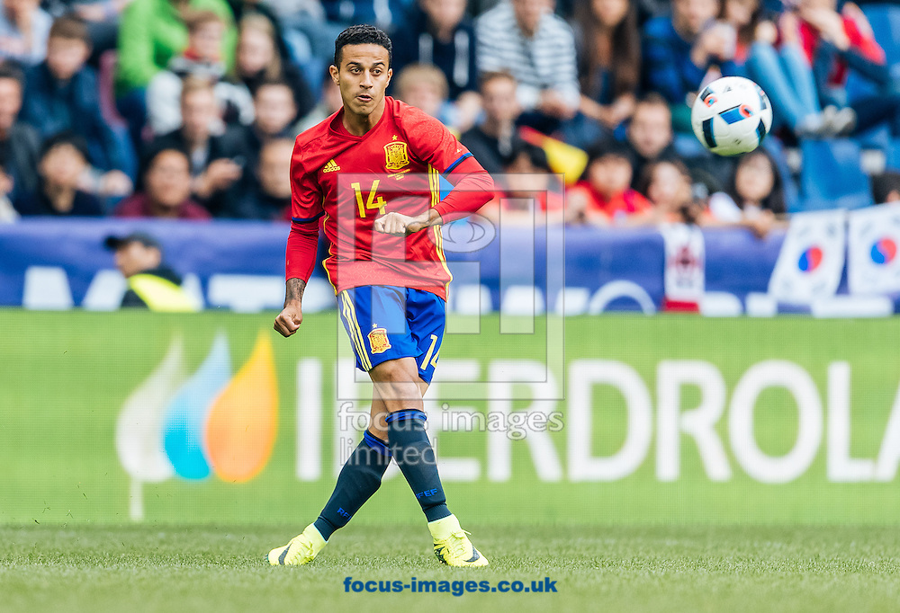 Thiago Alcantara of Spain during the International Friendly match at Red Bull Arena, Salzburg<br /> Picture by EXPA Pictures/Focus Images Ltd 07814482222<br /> 01/06/2016<br /> ***UK &amp; IRELAND ONLY***<br /> (filename}