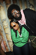 l to r: Chrisette Michelle and Quest?Love at Solange Knowles NYC Album release party held at Butter in New York City on September 5, 2008