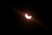 Vienna, Austria. Partial eclipse of the sun on March 20, 2015. Reaching its maximum at 10:46 AM.