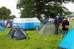 Image ©Licensed to i-Images Picture Agency. 05/07/2014. Oxford, United Kingdom. Cornbury Music Festival,The Great Tew Park, Chipping Norton.Oxfordshire.<br /> Picture Shows Festival goers camping at Cornbury. Picture by  i-Images