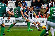 Captain Stephen McGinn of St Mirren searching for an equaliser during the Ladbrokes Scottish Premiership match between St Mirren and Hibernian at the Simple Digital Arena, Paisley, Scotland on 29th September 2018.
