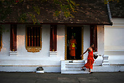 Novice monks are responsible for the day to day running of Luang Prabang's monasteries