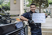 Eye-Catching Posters Are Used For Police Recruitment In Chengdu