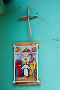 Palm Sunday cross on a wall - a home in Colombo 13.