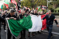 Roma, Italia - Militanti del partito di estrema destra di Forza Nuova manifestano nel quartiere Eur a Roma.<br /> <br /> Rome, Italy - Italy's far right supporters of Forza Nuova party rally in Rome on November 4, 2017.<br /> <br /> Ph. Roberto Salomone