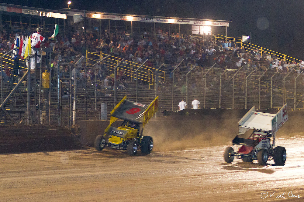 Fab Four Racing at Lernerville Speedway in Sarver, Pennsylvania on August 12, 2011. (Kurt Rivers)..