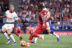 June 1, 2019 - Madrid, Spagna - Foto Alfredo Falcone - LaPresse.01/06/2019 Madrid ( Spagna).Sport Calcio.Liverpool - Tottenham.Finale Uefa Champions League 2018 2019 - Stadio Wanda Metropolitano di Madrid.Nella foto: il gol di Divock Origi of Liverpool del 2-0.Photo Alfredo Falcone - LaPresse.01/06/2019 Madrid (spain).Sport Soccer.Liverpool - Tottenham.Final Uefa Champions League  2018 2019 - Wanda Metropolitano Stadium of Madrid.In the pic: goal of Divock Origi of Liverpool 2-0 (Credit Image: © Alfredo Falcone/Lapresse via ZUMA Press)