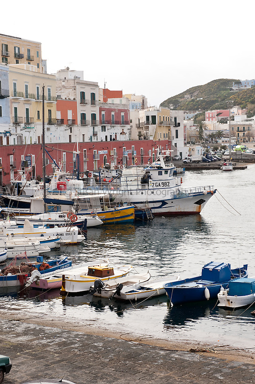 Port of Ponza, on the island of Ponza, Italy