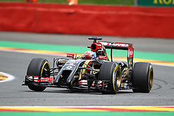22.08.2014, Circuit de Spa, Francorchamps, BEL, FIA, Formel 1, Grand Prix von Belgien, Training, im Bild Romain Grosjean (Lotus F1 Team/Renault)// during the Practice of Belgian Formula One Grand Prix at the Circuit de Spa in Francorchamps, Belgium on 2014/08/22. EXPA Pictures &copy; 2014, PhotoCredit: EXPA/ Eibner-Pressefoto/ Bermel<br /> <br /> *****ATTENTION - OUT of GER*****
