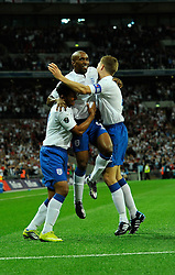 04.09.2010, Wembley Stadium, London, ENG, UEFA Euro 2012 Qualification, England v Bulgaria, im Bild Goal scorer Jermain Defoe of England celebrates. EXPA Pictures © 2010, PhotoCredit: EXPA/ IPS/ Sean Ryan +++++ ATTENTION - OUT OF ENGLAND/UK +++++ / SPORTIDA PHOTO AGENCY