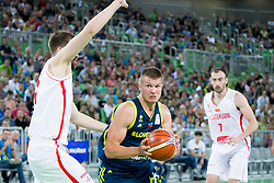 Edo Muric of Slovenia during basketball match between Slovenia and Montenegro in Round #6 of FIBA Basketball World Cup 2019 European Qualifiers, on July 1, 2018 in Arena Stozice, Ljubljana, Slovenia. Photo by Urban Urbanc / Sportida