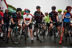 CANYON//SRAM Racing line up for GREE Tour of Guangxi Women's World Tour 2018, a 145.8 km road race in Guilin, China on October 21, 2018. Photo by Sean Robinson/velofocus.com