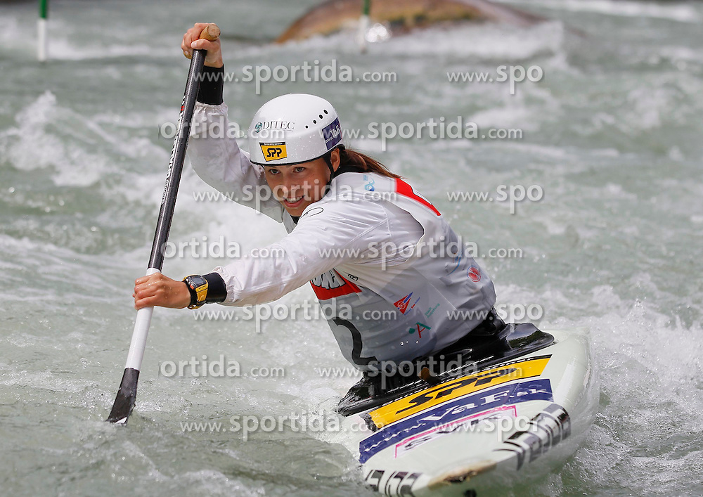 10.05.2012, Eiskanal, Augsburg, GER, ECA, Kanusalom Europameisterschaft, im Bild Katarina MACOVA (SVK, C1), // during the ECA European Canoe Championships at the Ice channel, Augsburg, Germany on 2012/05/10. EXPA Pictures © 2012, PhotoCredit: EXPA/ Eibner/ Klaus Rainer Krieger..***** ATTENTION - OUT OF GER *****