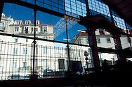 Ribeira's market glass wall at its back entrance.