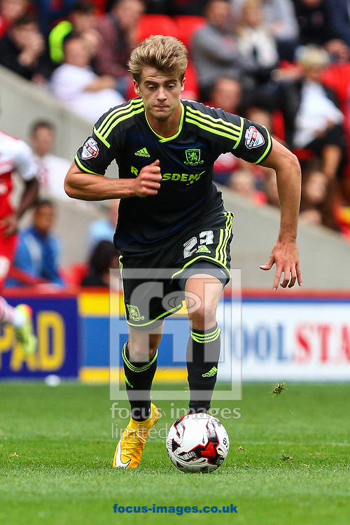 Patrick Bamford of Middlesbrough during the Sky Bet Championship match at The Valley, London<br /> Picture by David Horn/Focus Images Ltd +44 7545 970036<br /> 27/09/2014