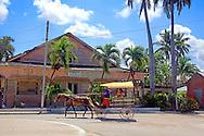 Coche de caballos in Jesus Menendez, Las Tunas, Cuba.