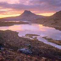 Tired wee legs and sleepy eyes were rewarded on the slog back from the slopes of Beinn Tarsuinn, twilight moved in and the last glow reflected beautifully in the waters of Loch Lurgainn