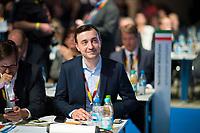 DEU, Deutschland, Germany, Berlin,26.02.2018: Paul Ziemiak, Chef der Jungen Union (JU) beim Parteitag der CDU in der Station. Die Delegierten stimmten mit großer Mehrheit für die Neuauflage der Großen Koalition (GroKo).