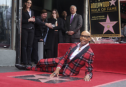 March 16, 2018 - Los Angeles, California, U.S - RuPaul poses with his star on the Hollywood Walk of Fame following a ceremony on Friday, March 16, 2018, in Los Angeles. (Credit Image: © Ringo Chiu via ZUMA Wire)