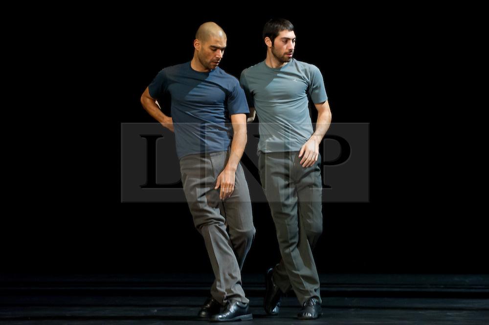 """© Copyright licensed to London News Pictures. 02/11/2010. Emanuel Gat & Roy Assaf. Emanuel Gat Dance, """"Winter Variations"""", Sadler's Wells, London."""