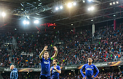 12.04.2018, Red Bull Arena, Salzburg, AUT, UEFA EL, FC Salzburg vs SS Lazio Roma, Viertelfinale, Rueckspiel, im Bild Marco Parolo (SS Lazio Roma), Senad Lulic (SS Lazio Roma), Nani (SS Lazio Roma) // during the UEFA Europa League Quaterfinal, 2nd Leg Match between FC Salzburg and SS Lazio Roma at the Red Bull Arena in Salzburg, Austria on 2018/04/12. EXPA Pictures © 2018, PhotoCredit: EXPA/ JFK