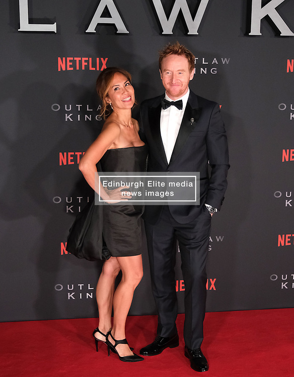 Outlaw King Premiere, Edinburgh, Friday 19th October 2018<br /> <br /> Outlaw King is a Netflix film and follows 14th century Scottish king Robert the Bruce prior to his coronation and through to his rebellion against the English, who at the time were occupying Scotland.<br /> <br /> Stars, crew and guests appear on the red carpet for the Scottish premiere.<br /> <br /> Pictured: Tony Curran and his partner<br /> <br /> Alex Todd | Edinburgh Elite media