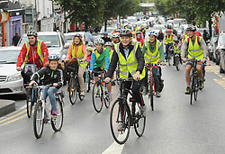 As part of Westport Smarter Travel's programme of activities for European Mobility Week a fun cycle open to all bike users and the public, took place through the streets of Westport on saturday last.<br />
