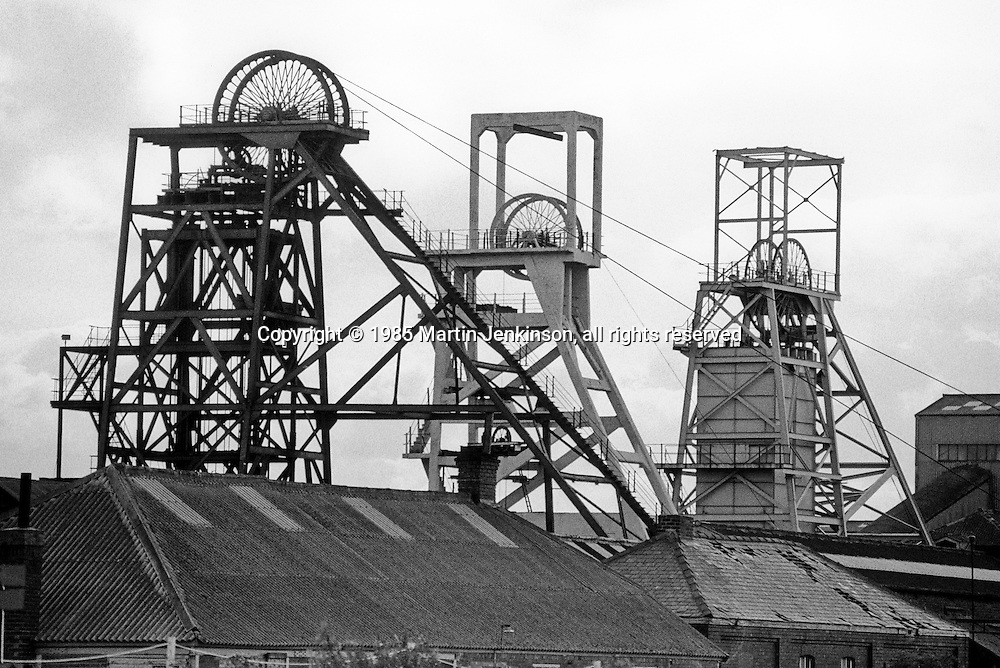 Ackton Hall Colliery, Featherstone. National Coal Board North Yorkshire Area. 20-07-1985.