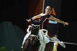 Esther Sneekes, (NED), Nolan, Marjo Sneekes - Individuals Women Freestyle Vaulting - Alltech FEI World Equestrian Games™ 2014 - Normandy, France.<br /> © Hippo Foto Team - Jon Stroud<br /> 03/09/2014