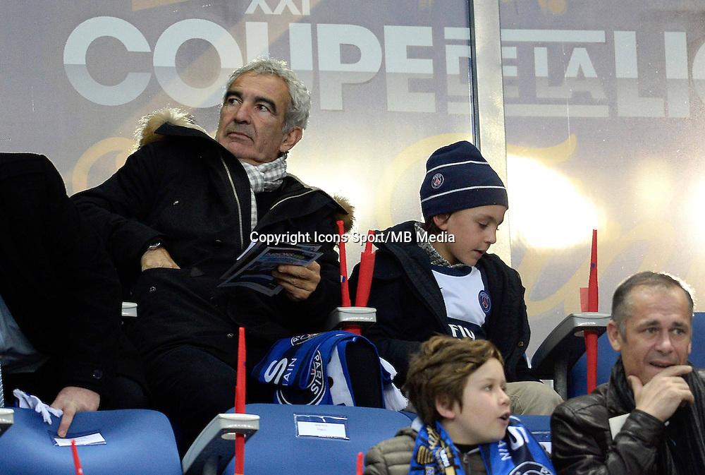 RAYMOND DOMENECH    - 11.04.2015 -  Bastia / PSG - Finale de la Coupe de la Ligue 2015<br />Photo : Visual / Icon Sport
