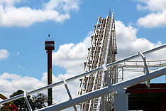 Auckland-Rainbows End roller coaster idle after breakdown