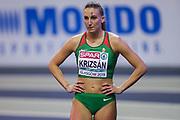 Xenia Krizsan (Hungary), Pentathlon, High Jump, during the European Athletics Indoor Championships 2019 at Emirates Arena, Glasgow, United Kingdom on 1 March 2019.