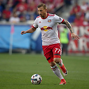 HARRISON, NEW JERSEY- OCTOBER 15: Daniel Royer #77 of New York Red Bulls in action during the New York Red Bulls Vs Atlanta United FC, MLS regular season match at Red Bull Arena, Harrison, New Jersey on October 15, 2017 in Harrison, New Jersey. (Photo by Tim Clayton/Corbis via Getty Images)