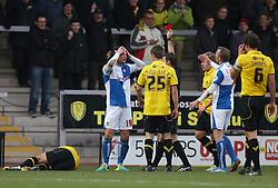 Bristol Rovers' Chris Beardsley is sent off- Photo mandatory by-line: Matt Bunn/JMP - Tel: Mobile: 07966 386802 23/11/2013 - SPORT - Football - Burton - Pirelli Stadium - Burton Albion v Bristol Rovers - Sky Bet League Two